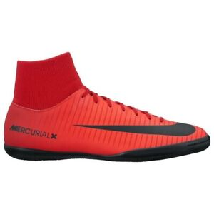 491b2fc7d74 Image is loading Junior-Nike-Mercurial-Victory-DF-Red-Black-Indoor-