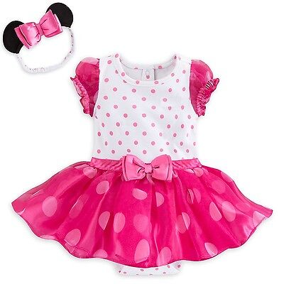NWT Disney Store Minnie Mouse Pink Baby Costume /& Ears SET 0 3 6 9 12 18 M