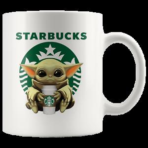 STARBUCKS Baby Yoda Funny Yoda Starbucks Coffee Mug Gift|Star Wars Yoda Fan Gift