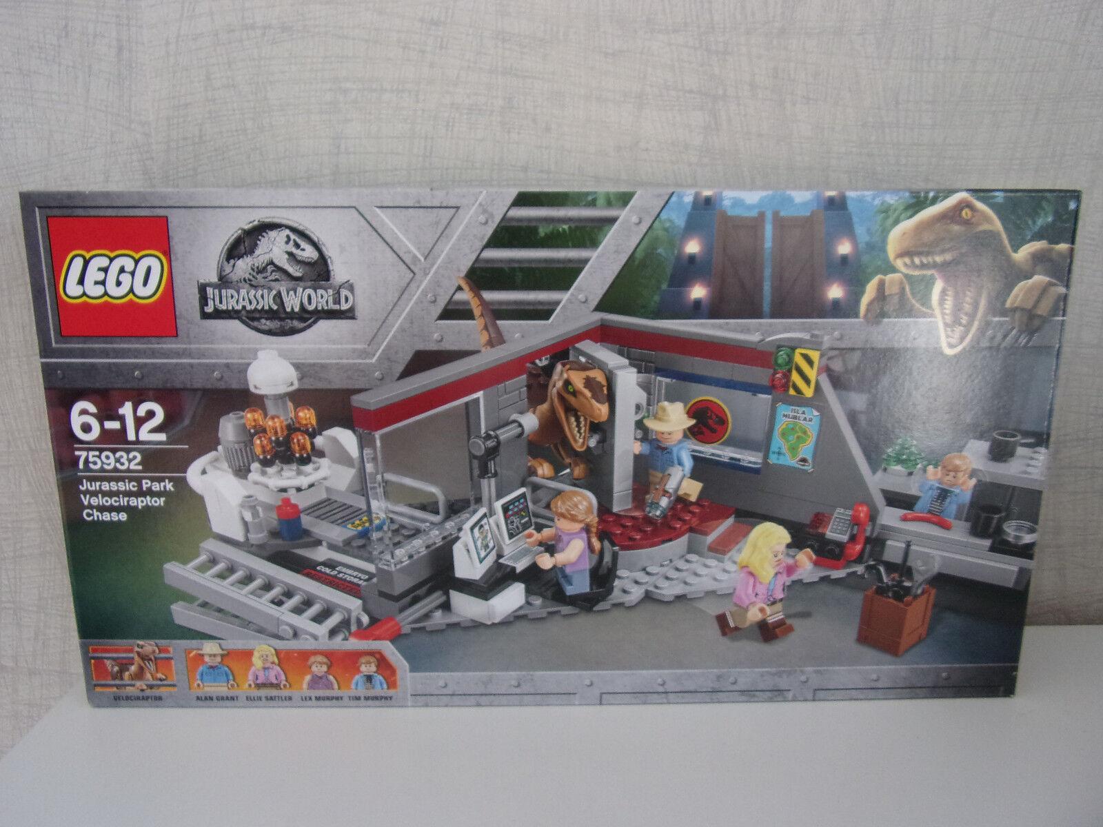 LEGO Jurassic World 75932 Jurassic Park Velociraptor Chase-NUOVO & OVP