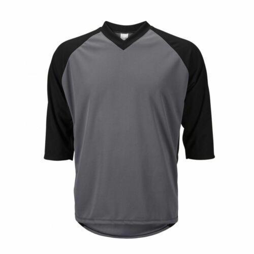 World Jerseys Men/'s Mountain Bike Jersey 3//4 length sleeve loose fit Gray//Blk