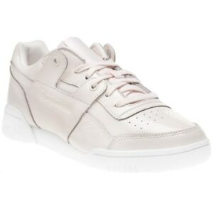 ba93f3ded34 New Womens Reebok Pink Workout Lo Plus Iridescent Patent Leather ...