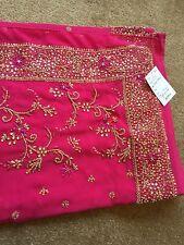 Saree-Bollywood boda fiesta desgaste pesado de Moda Diseñador Sari Indio Asiático
