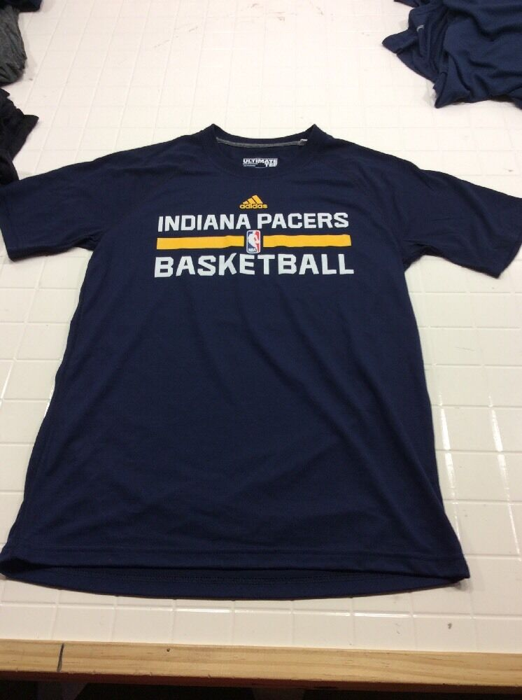 INDIANA PACERS T-SHIRT CLIMALITE 100% POLYESTER ADIDAS NEU b A1101