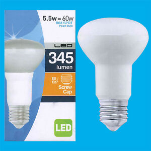 1x-8W-R63-LED-niedrigen-Energie-Pearl-Reflektor-Strahler-Gluehlampe-ES-E27-Licht-Lampe