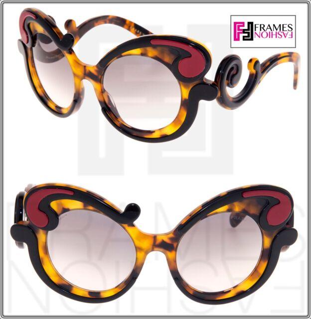 017c98431fce Frequently bought together. PRADA MINIMAL Baroque Swirl Black Havana Red  Gradient ...