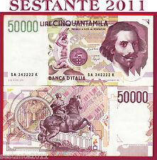 ITALY ITALIA 50.000 50000 Lire BERNINI 1992 2° tipo Lettera A P 116a SPL++/ XF++