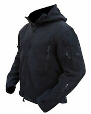 TACTICAL BLACK RECON FLEECE Military Army Style SAS, POLICE, CADETS, SBS Coat