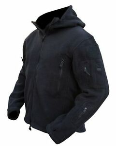 TACTICAL-BLACK-RECON-FLEECE-Military-Army-Style-SAS-POLICE-CADETS-SBS-Coat
