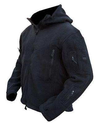 TACTICAL BLACK RECON FLEECE Military Army Style SAS, POLICE, CADETS, SBS Coat