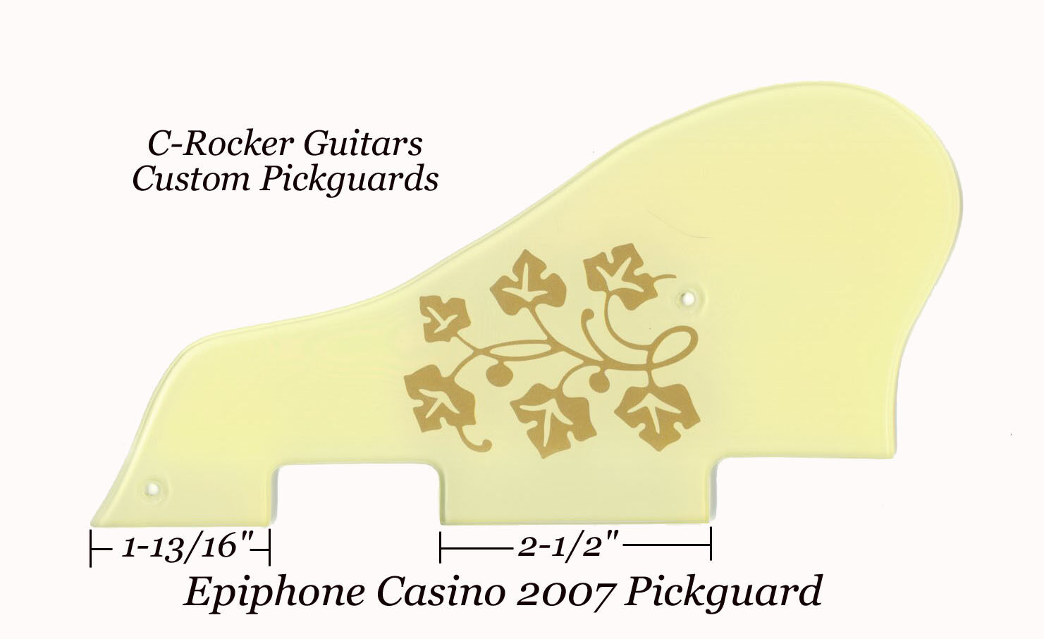 Epiphone CASINO 2007 Pickguard ES-295 Creme Gold Floral W Hardware Project NEW