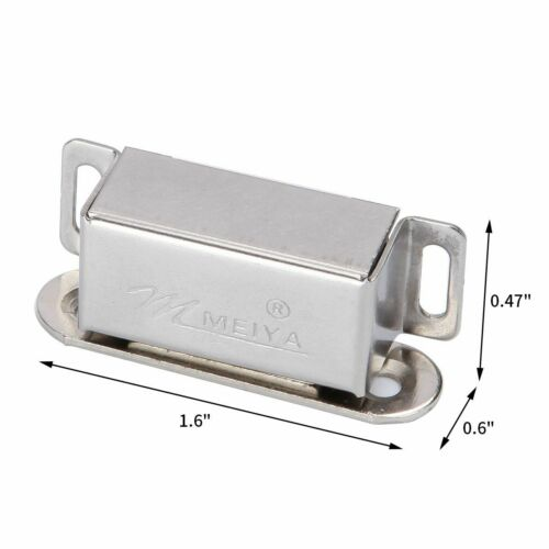 10pcs Metal Magnetic Door Catches Cupboard Wardrobe Cabinet Latch Drawer Catch