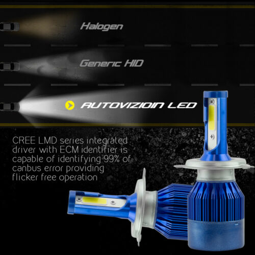 AUTOVIZION LED HID Headlight kit H4 9003 6000K 2004-2011 Chevrolet Aveo