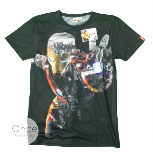 PRIMARK Unisex Mens MARVEL IRON MAN T Shirt