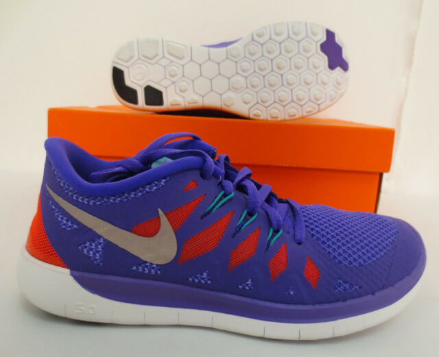 NIKE FREE 5.0 YOUTH KIDS SIZE 5.5 RUNNING WORK OUT SHOES GYM 644446 500  PURPLE 2d501455c