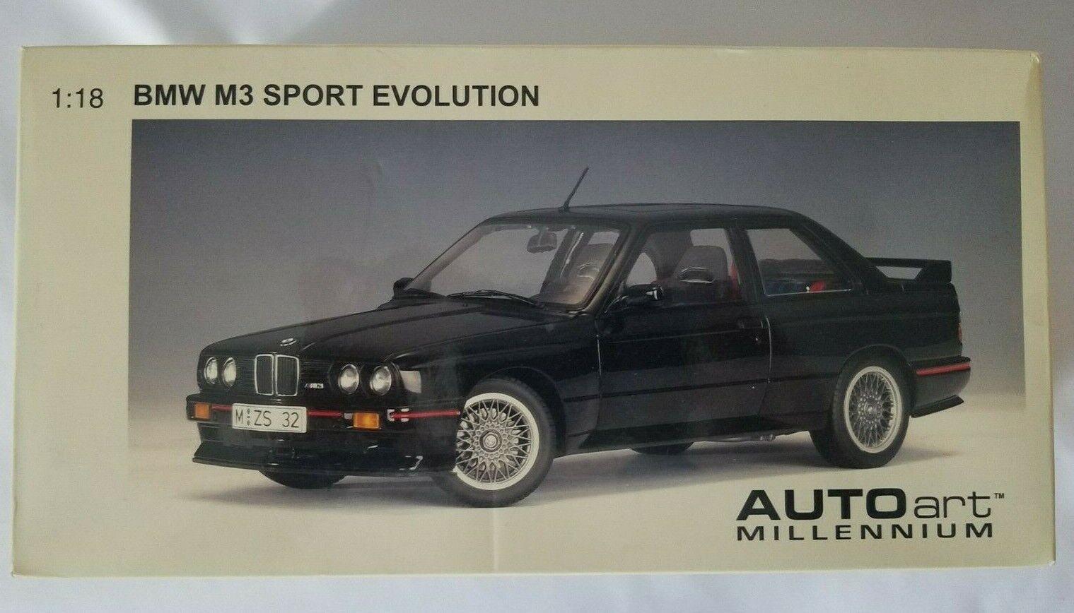 Autoart Millennium Bmw E30 M3 Sport Evolution 1 18 Scale Black G4 For Sale Online