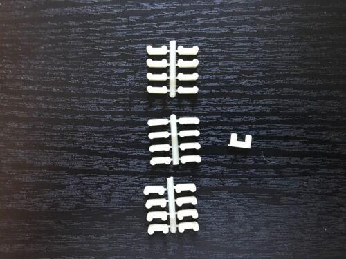 Locks 25 New White Nylon. Aurora TJet Slot Car Track Connectors