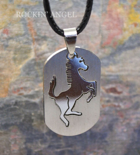 316 Stainless Steel Horse Necklace Dog Tag  Pendant Men Ladies Horse Lovers Gift