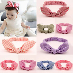 Baby Kids Girls Bunny Hairband Turban Knot Rabbit Headband Headwrap ... f263447eff3