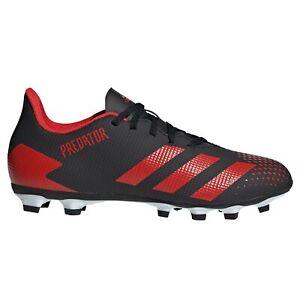 Adidas-Predator-20-4-FXG-Firm-Ground-pour-homme-Football-Boot-Noir-Rouge
