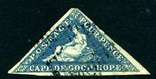 CAPE OF GOOD HOPE-1863-4 4d Blue Sg 19a  GOOD USED V15144
