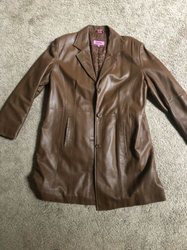 Excelled Collection Womens Brown Leather Jacket XL