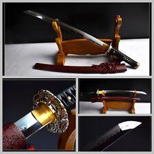 High Quality Japan Samurai Wakizashi Sword Katana Clay Tempered T10 Steel Sharp
