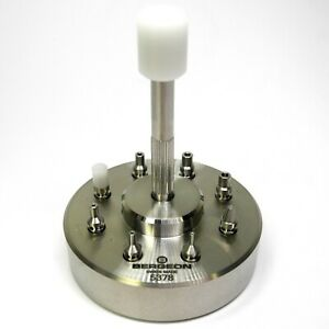 Bergeon 5378 Watch Hand Fitting Setting Tool 9 Stakes On Holder Watches - Hh5378