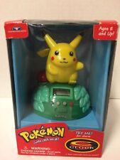 VINTAGE 1999 Pikachu Pokemon Electronic Talking Alarm Clock Nintendo VGC (12)