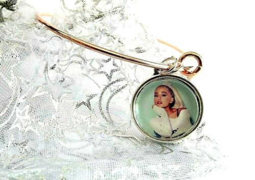 ARIANA GRANDE ADJUSTABLE ROSE GOLD PHOTO BANGLE CHARM GIFT BOX PARTY 7 TO 16 Y