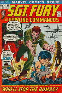 SGT-FURY-94-VG-Dick-Ayers-art-Howling-Commandos-Marvel-Comics-1972