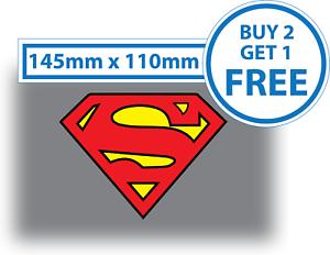 2 X Superman Logo Crest Laptop Sticker Vinyl Wall Art Car Bumper Superhero Comic