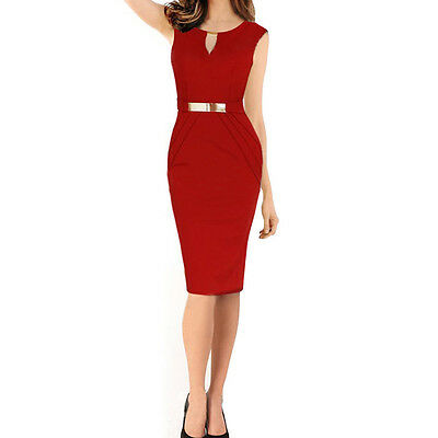 Sexy Ladies Elegant Sleeveless Slim Fashion Slim Party Dress Evening Dress