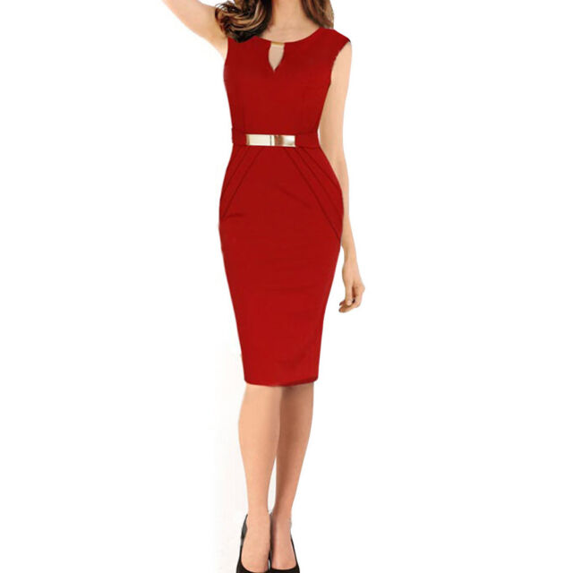 Sexy Ladies Elegant Sleeveless Slim Fashion Slim Party Dress Evening Dress