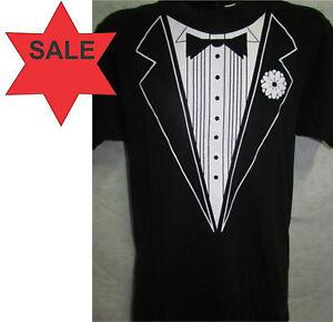 29e53324d Black & White Tuxedo T-Shirt - Mens S, M, L, XL, 2XL 3XL 4XL Unisex ...