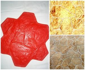Concrete-texture-stamp-mat-POLYURETHANE-for-printing-on-cement-Mat-Stone-Flower