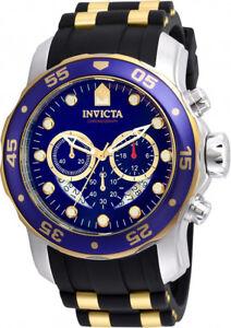 Invicta Men's Pro Diver 100m Chronograph Blue Dial Luminous Watch 22971
