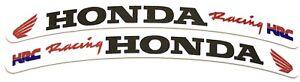 Honda-CBR-Fireblade-Wheel-Rim-Logo-Sticker-Decal-x-8-Red-flag-Black-text-HRC