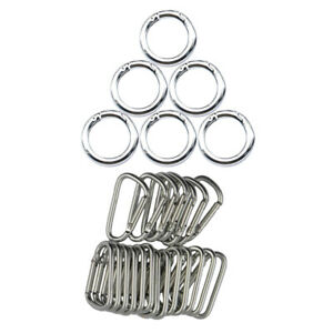 5x Circle Round Carabiner Hook Keyring Buckle 28mm Snap Clips Keychain new.
