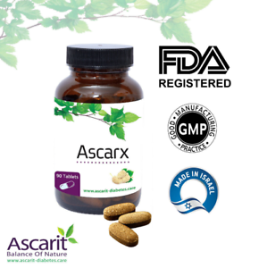 Ascarx-Blutzucker-Balance-Glucose-Unterstuetzung-Herbal-Natural-100-90-Kapseln