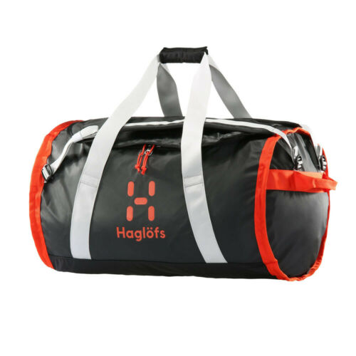 Haglofs Unisex Lava 90 Duffel Bag Black Orange Sports Water Resistant