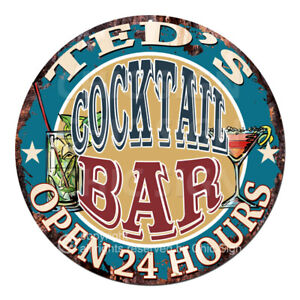 CPCO-0240-TED-039-S-COCKTAIL-BAR-Sign-Valentine-Father-039-s-Day-Christmas-Gift