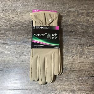 Isotoner-SmarTouch-2-0-Touch-Screen-Compatible-Gloves-Women-039-s-Size-XL-Camel-Tan