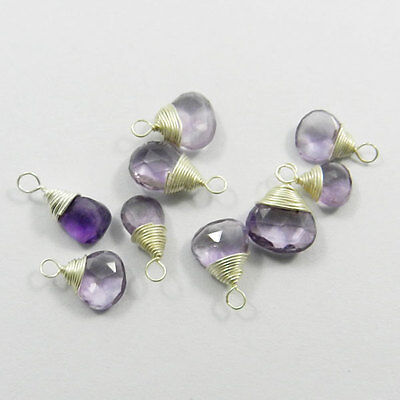 Best Quality Amethyst Drop Faceted Silver Pendant, Sterling Silver Jewerly