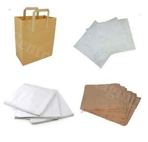 Paper Bags White Brown Window Kraft Bag Kids Party Market