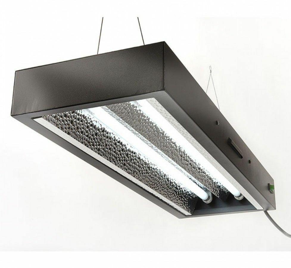 Hidroponía 2FT lumenlite 2 o 4 Tubo T5 propagación CFL Bajo Consumo De Energía Luz de crecimiento