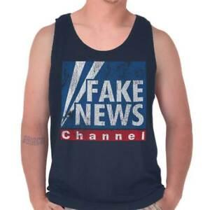 Fake-News-President-Donald-Trump-Political-Adult-Tank-Top-T-Shirt-Tees-Tshirt
