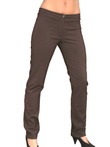 drain pipe school trousers office day brown sizes 6-16 1172