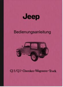 1977 CJ5 CJ7 Jeep Owners Manual Truck Wagoneer Auto Parts ...