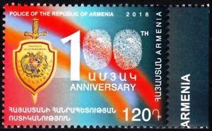 Heraldry Armenia 2018-15 Police Centenary Mnh